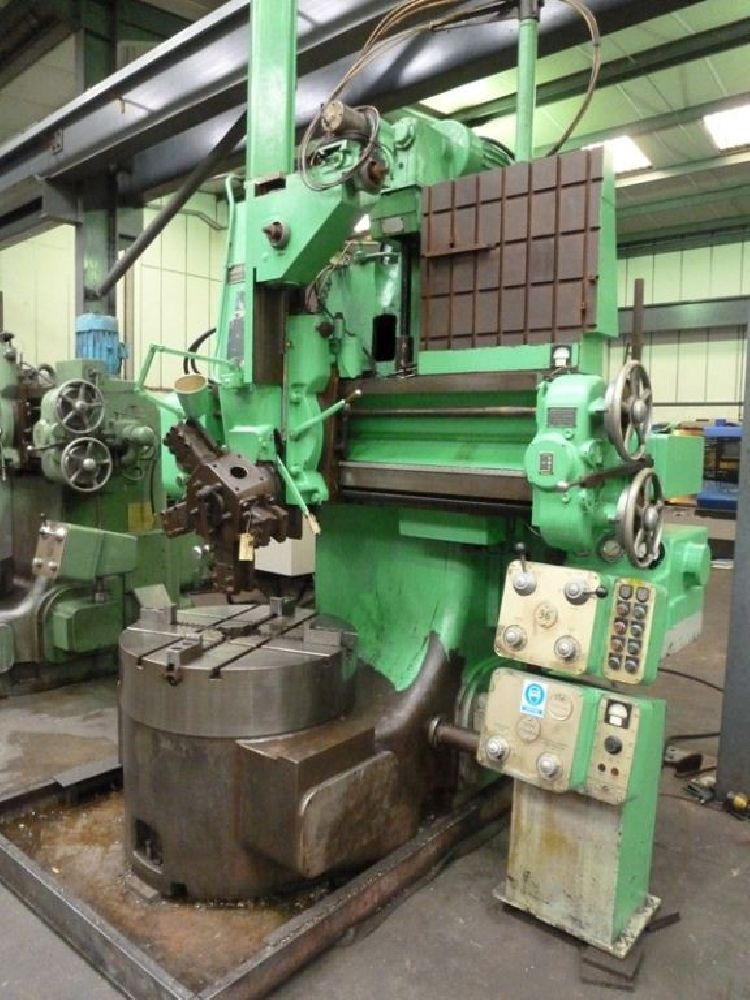 WEBSTER & BENNETT 36 EH ELEVATING RAIL VERTCAL TURNING LATHE / BORING MACHINE