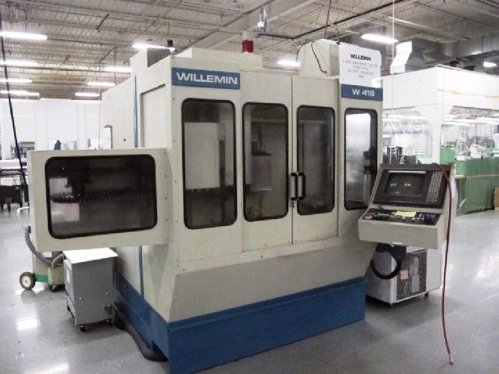 WILLEMIN MACODEL W418B 5 AXIS CNC VERTICAL MACHINING CENTRE