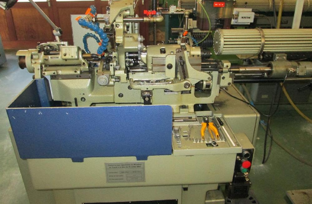 TORNOS MS7 SLIDING HEAD LATHE WITH SUPER TELEBAR AND 12U COMBINED ATTACHMENT