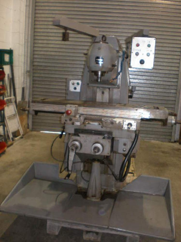 BRIDGEPORT 1S UNIVERSAL MILLING MACHINE WITH VERTICAL HEAD