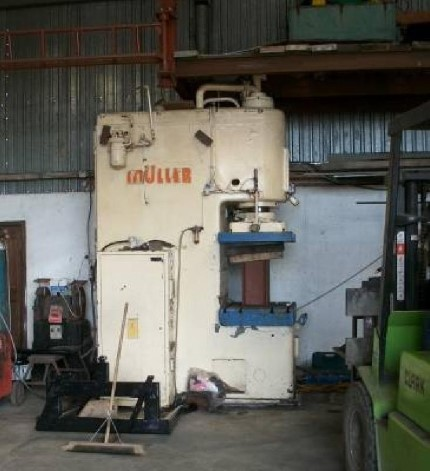 MULLER 100 TON C-FRAME HYDRAULIC PRESS