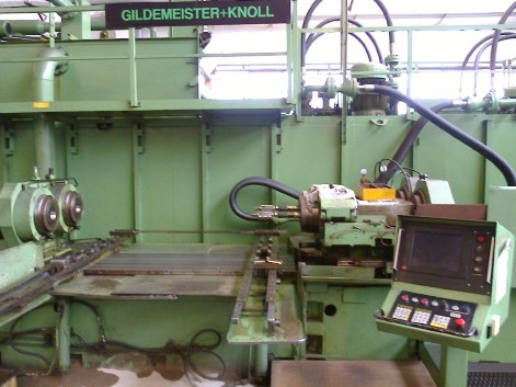 GILDEMEISTER + KNOLL M 04-2-2000 NG CNC TWIN SPINDLE DEEP HOLE BORING MACHINE C/W SKIVING AND BURNISHING