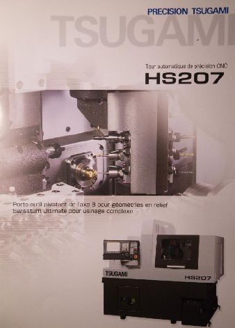 TSUGAMI HS 207 HIGH PRECISION CNC SLIDING HEAD LATHE