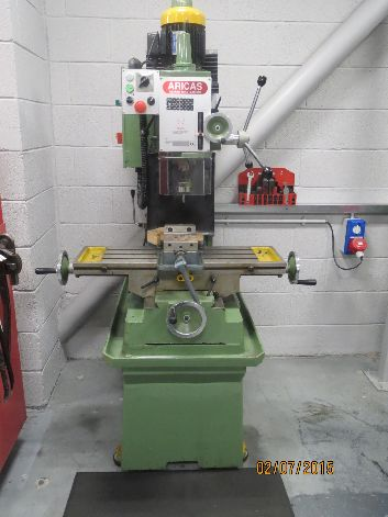ARICAS GEM 500G GEARED HEAD MILLING MACHINE