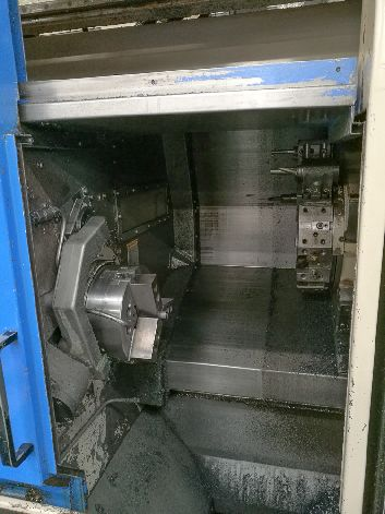 HITACHI SEIKI TF20 CNC SUPER PRODUCTIVE TURNING CELL LATHE WITH MR-6 LOADER