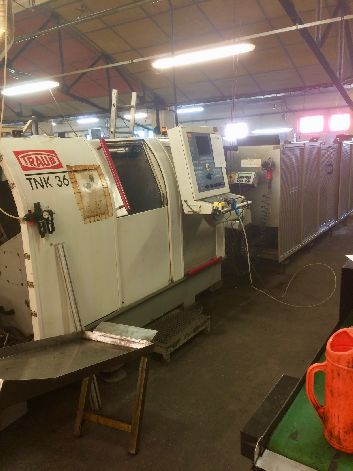 TRAUB TNK 36 CNC LATHE WITH SUBSPINDLE