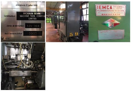 3 OFF WICKMAN MULTISPINDLE LATHES 1INCH X 6 MODELS WITH ELECTROMAGNETIC CLUTCHES AND VARIOUS TOOLING PRICE FOR LOT